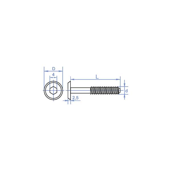 Винт М6 - ДИН7420