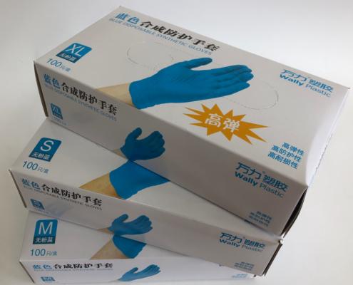 Перчатки защитные виниловые, WALLY PLASTIC